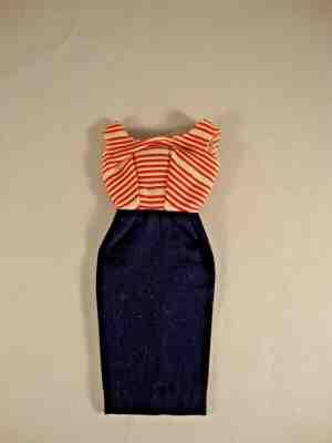 Barbie Roman Holiday Cruise Stripes SHEATH DRESS #968 Vintage Reproduction REPRO