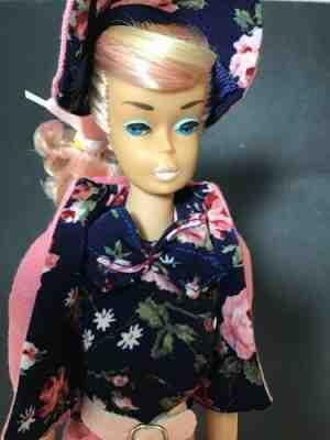 "12"" Mattel Barbie Doll ""Busy Gal"" Reproduction Retro 1960's Brunette Mint NRFB #"