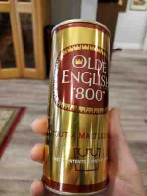 OLDE ENGLISH 800 DRAFT MALT LIQUOR 16oz Beer CAN Tiger Pabst Milwaukee WISCONSIN
