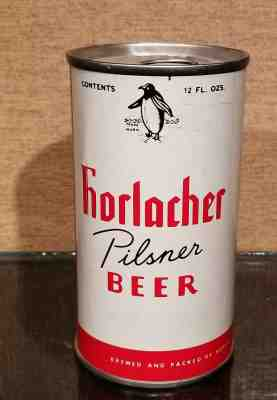 BREW II ss metallic Pull Tab Beer CAN Horlacher Allentown PENNSYLVANIA 1976 1//1+