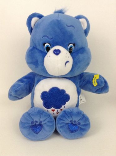 """Tested Works 13"""" Grumpy Bear Care Bears 2015 Just Play Blue Sing-A-Long Dancing"""