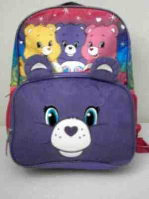 Drawstring Backpack Gym School Sling Tote Bag Care Bear Pink