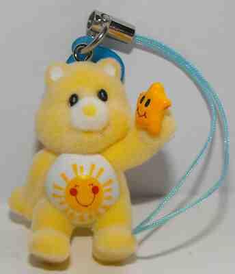 3D Flocked Figurine Dangling Charm Share Care Bear Dangler Capsule Toy