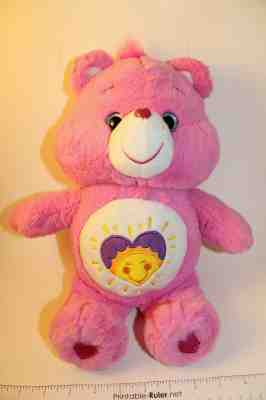 "12/"" Care Bear Plush Shine Bright Sun Pink Crystal Eye Gift Package NEW"