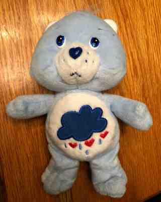 "8 1//2/"" Care Bears GRUMPY BEAR Plush Furry Fuzzy Bean Bag Toy W// Rain Cloud 2017"