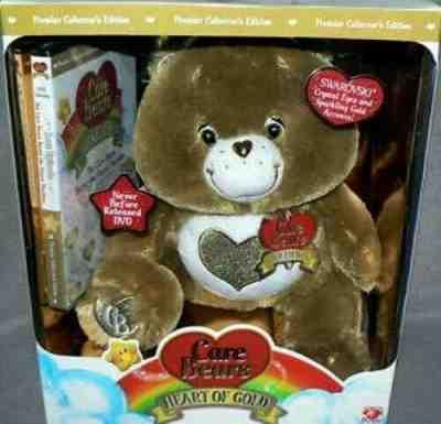 Care Bears TENDERHEART BEAR Collector/'s Edition Brown Plush Bear