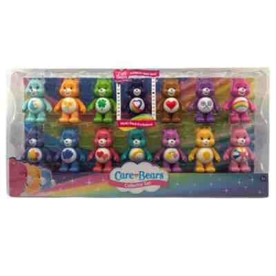 Just Play Exclusive Rainbow Heart Bear Care Bears Collector Set of 14 Figures