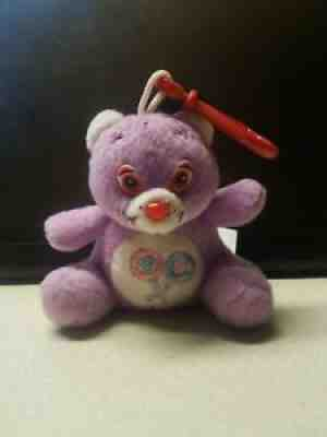"""Care Bears Love A Lot Bear Pink Key Chain Clip On Plush Toy 3/"""""""