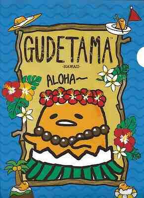 Sanrio Gudetama Folder Portfolio Hawaii Aloha Tiki Flower