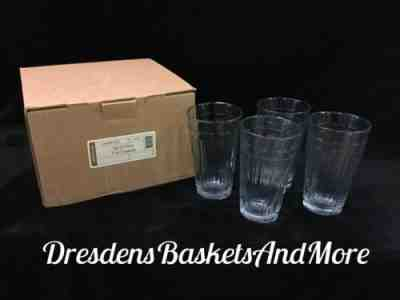 Longaberger Beverageware Woven Traditions Tumblers 12 oz glasses set//4 NEW w//box